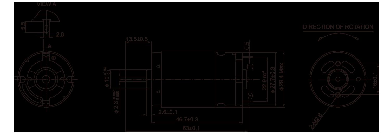 DC-Motor_RS-395PA_Outline绘图