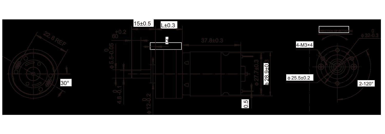 DC-Motor_32JZG3828_Outline绘图